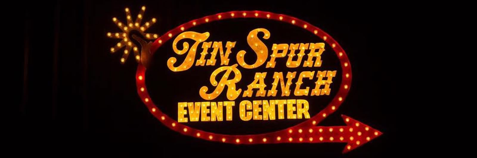 Tin Spur Event Center Sign